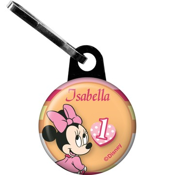 Minnie 1st Bday Personalized Zipper Pull (Each)