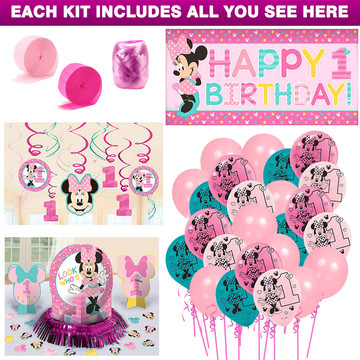 Minnie Mouse 1st Birthday Decoration Kit