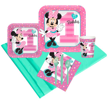 Minnie Mouse 1st Birthday Party Pack (24)