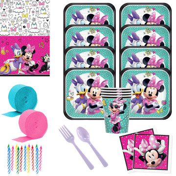 Minnie Mouse Helpers Deluxe Tableware Kit (Serves 8)