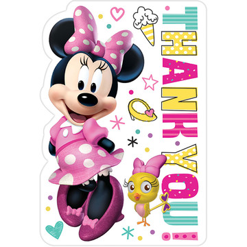 Minnie Mouse Helpers Thank You Cards (8)