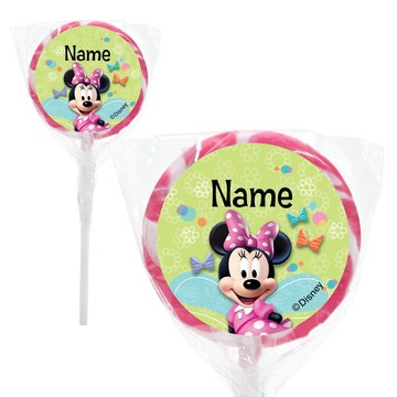 "Minnie Mouse Personalized 2"" Lollipops (20 Pack)"