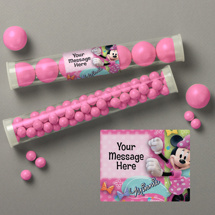 View larger image of Minnie Mouse Personalized Candy Tubes (12 Count)