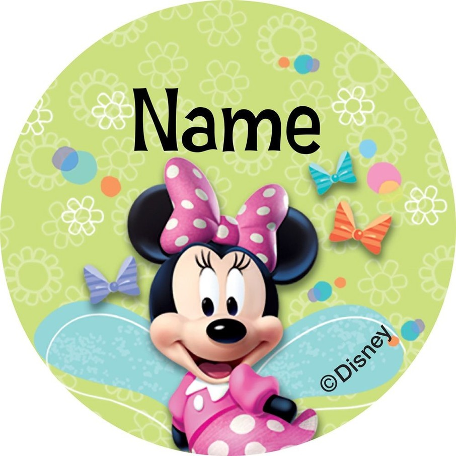 View larger image of Minnie Mouse Personalized Mini Stickers (Sheet of 24)