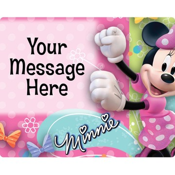 Minnie Mouse Personalized Rectangular Stickers (Sheet of 15)