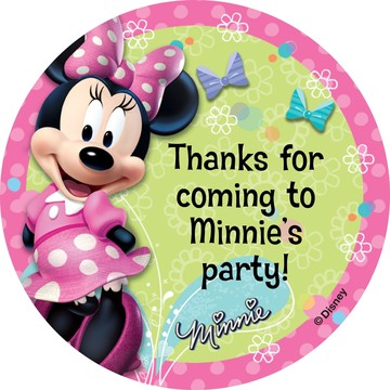 Minnie Mouse Personalized Stickers (Sheet Of 12)