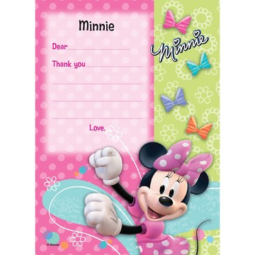 Minnie Mouse Personalized Thank You (Each)