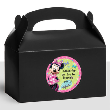 Minnie Mouse Personalized Treat Favor Boxes (12 Count)