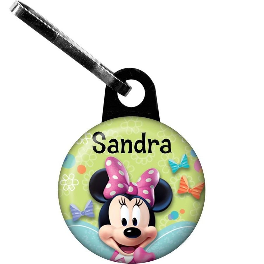 View larger image of Minnie Mouse Personalized Zipper Pull (Each)
