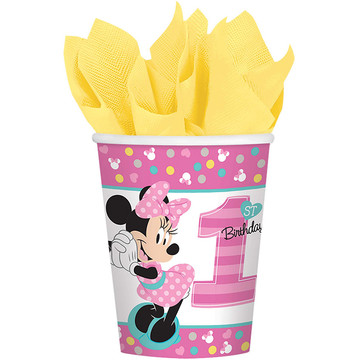 Minnie's Fun To Be One Paper 9oz Cups (8 Count)