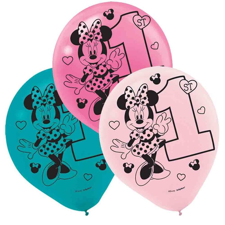 View larger image of Minnie's Fun To Be One Printed Latex Balloons (15 Count)
