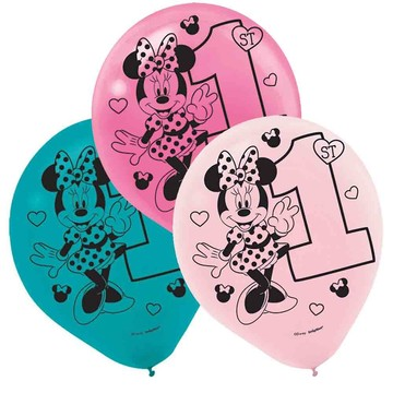 Minnie's Fun To Be One Printed Latex Balloons (15 Count)