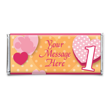 Miss Mouse 1st Birthday Personalized Candy Bar Wrapper (Each)