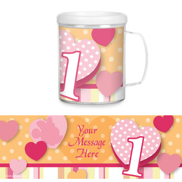 Miss Mouse 1st Birthday Personalized Favor Mug (Each)