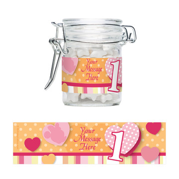 Miss Mouse 1st Birthday Personalized Swing Top Apothecary Jars (12 ct)