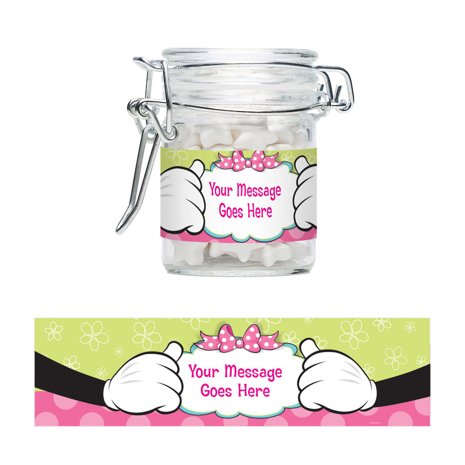 View larger image of Miss Mouse Personalized Swing Top Apothecary Jars (12 ct)