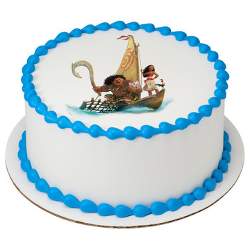 "Moana 7.5"" Round Edible Cake Topper (Each)"