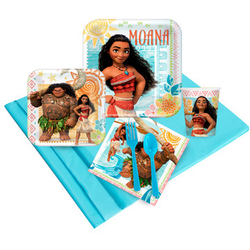 Moana Deluxe Tableware Kit (Serves 8)
