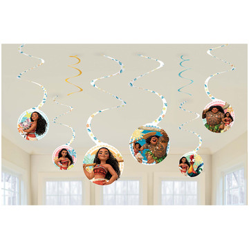Moana Swirl Decorations (6)