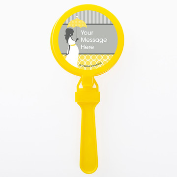 Mod Baby Shower Personalized Clappers (Set of 12)