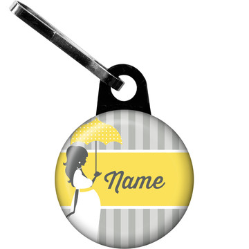 Mod Baby Shower Personalized Zipper Pull (Each)