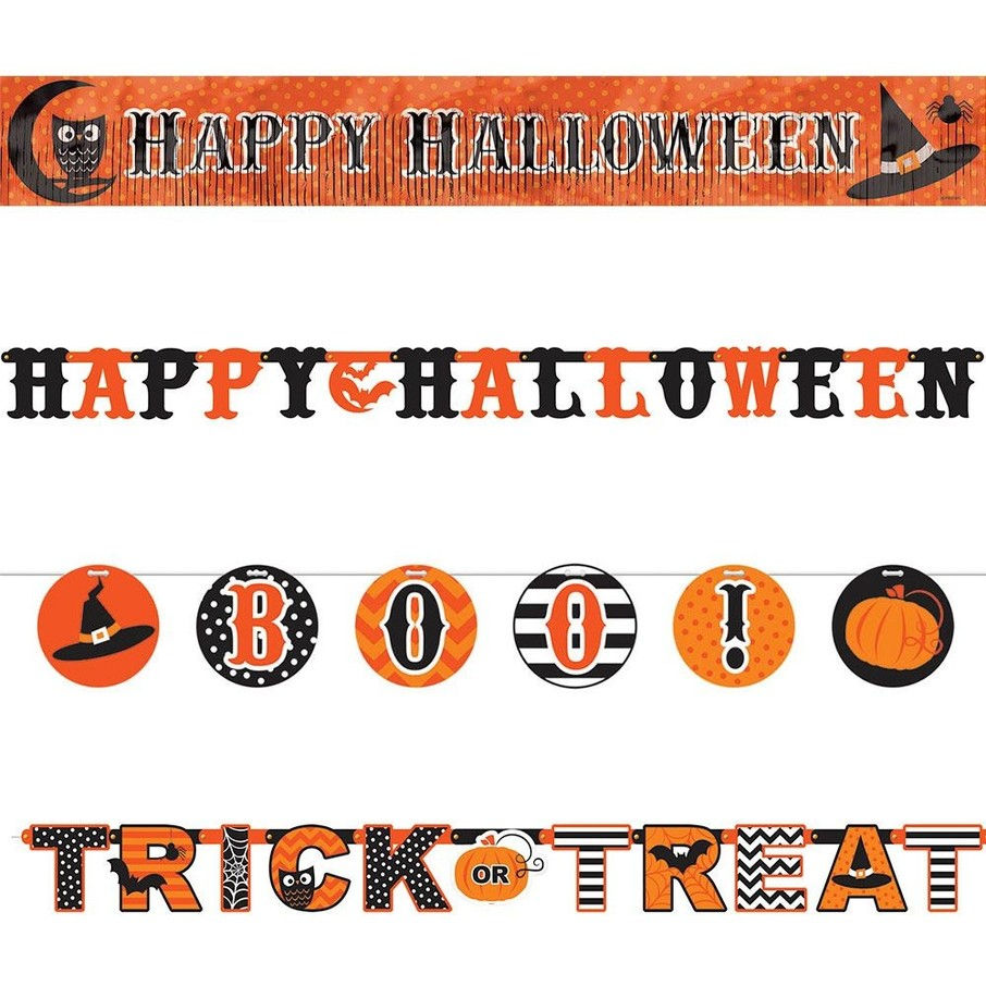 View larger image of Modern Halloween Multi Letter Banners Set (4 Pack)