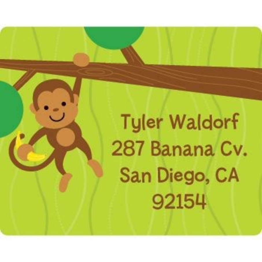 View larger image of Monkey Party Personalized Address Labels (sheet of 15)