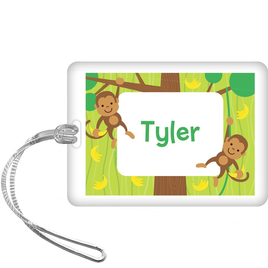 View larger image of Monkey Party Personalized Bag Tag (each)