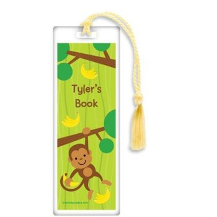 View larger image of Monkey Party Personalized Bookmark (each)