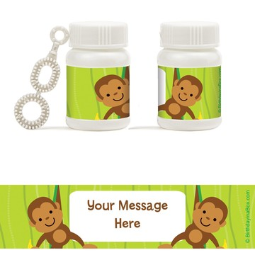 Monkey Party Personalized Bubbles (18 Pack)