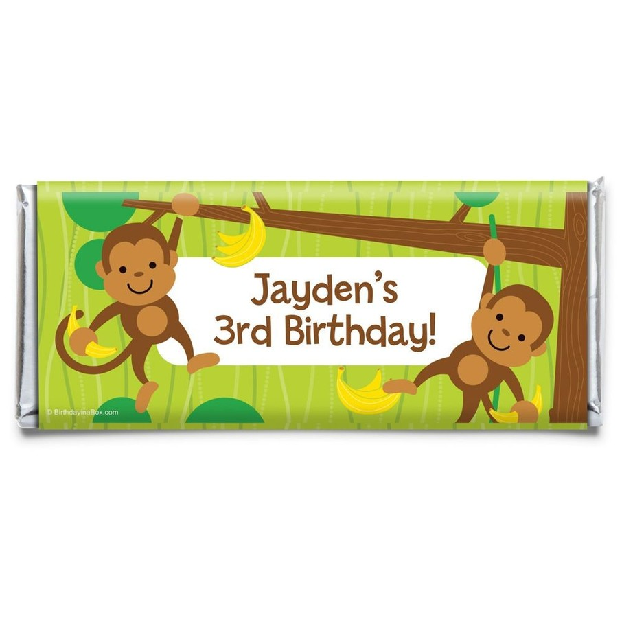 View larger image of Monkey Party Personalized Candy Bar Wrapper (Each)