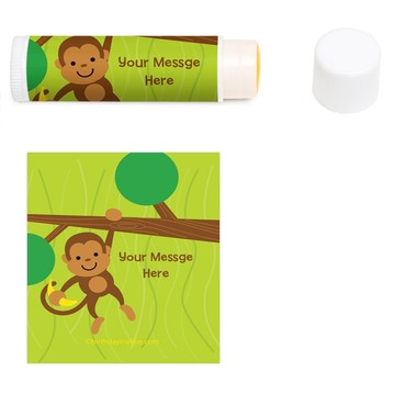 Monkey Party Personalized Lip Balm (12 Pack)