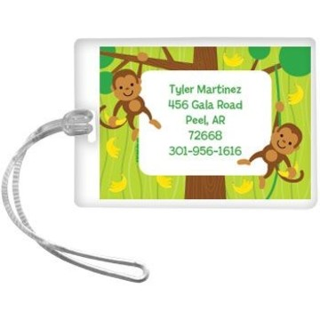 Monkey Party Personalized Luggage Tag (each)