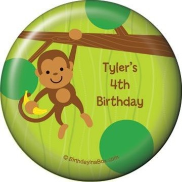 Monkey Party Personalized Magnet (each)
