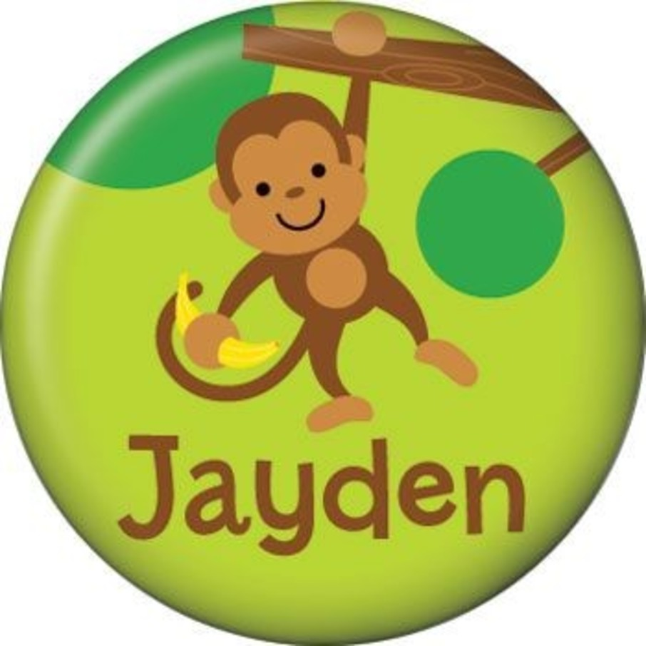 View larger image of Monkey Party Personalized Mini Button (each)