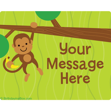 Monkey Party Personalized Rectangular Stickers (Sheet of 15)