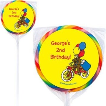 Monkey Personalized Lollipops (pack of 12)