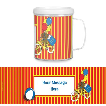 Monkey Plastic Personalized Favor Mugs (Each)