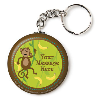 """Monkeying Around Personalized 2.25"""" Key Chain (Each)"""