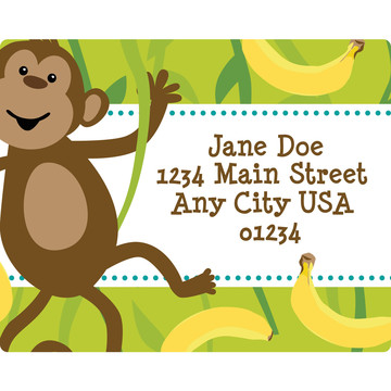 Monkeying Around Personalized Address Labels (Sheet of 15)