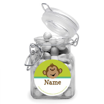Monkeying Around Personalized Glass Apothecary Jars (12 Count)