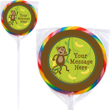 Monkeying Around Personalized Lollipops (12 Pack)