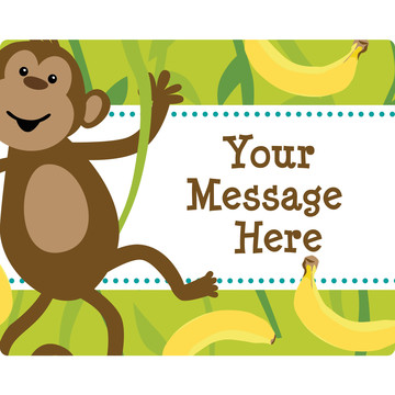 Monkeying Around Personalized Rectangular Stickers (Sheet of 15)
