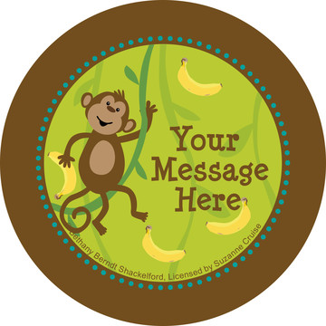 Monkeying Around Personalized Stickers (Sheet of 12)