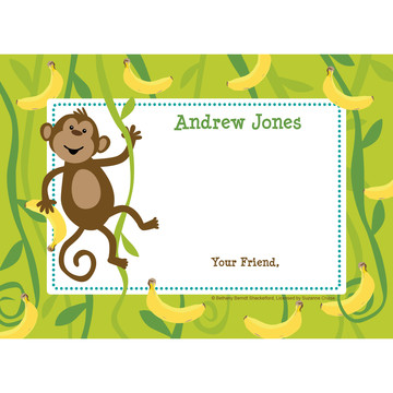 Monkeying Around Personalized Thank You (Each)