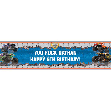 Monster Jam 3D Personalized Banner (each)