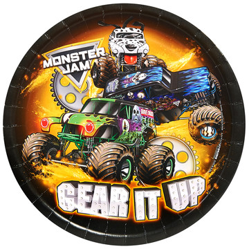 "Monster Jam 9"" Dinner Plates (8 Count)"