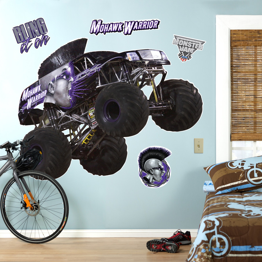 View larger image of Monster Jam Mohawk Warrior Giant Wall Decal