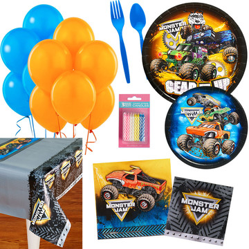 Monster Jam Party Essentials Kit, Serves 16