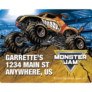 Monster Jam Personalized Address Labels (Sheet of 15)